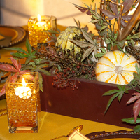 Ceremony, Reception, Flowers & Decor, white, yellow, orange, red, green, brown, gold