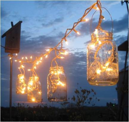 Reception, Flowers & Decor, Inspiration board, Lantern, Jar, Mason, Wlights
