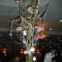 Reception, Flowers & Decor, pink, purple, green, Centerpieces, Flowers, Centerpiece, Tree, Curly willow