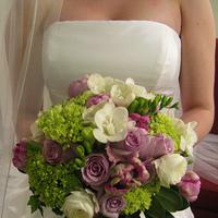 Flowers & Decor, white, purple, green, Bride Bouquets, Flowers, Bouquet, And