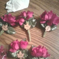 Flowers & Decor, pink, green, Boutonnieres, Flowers