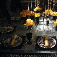 Reception, Flowers & Decor, yellow, black, Flowers