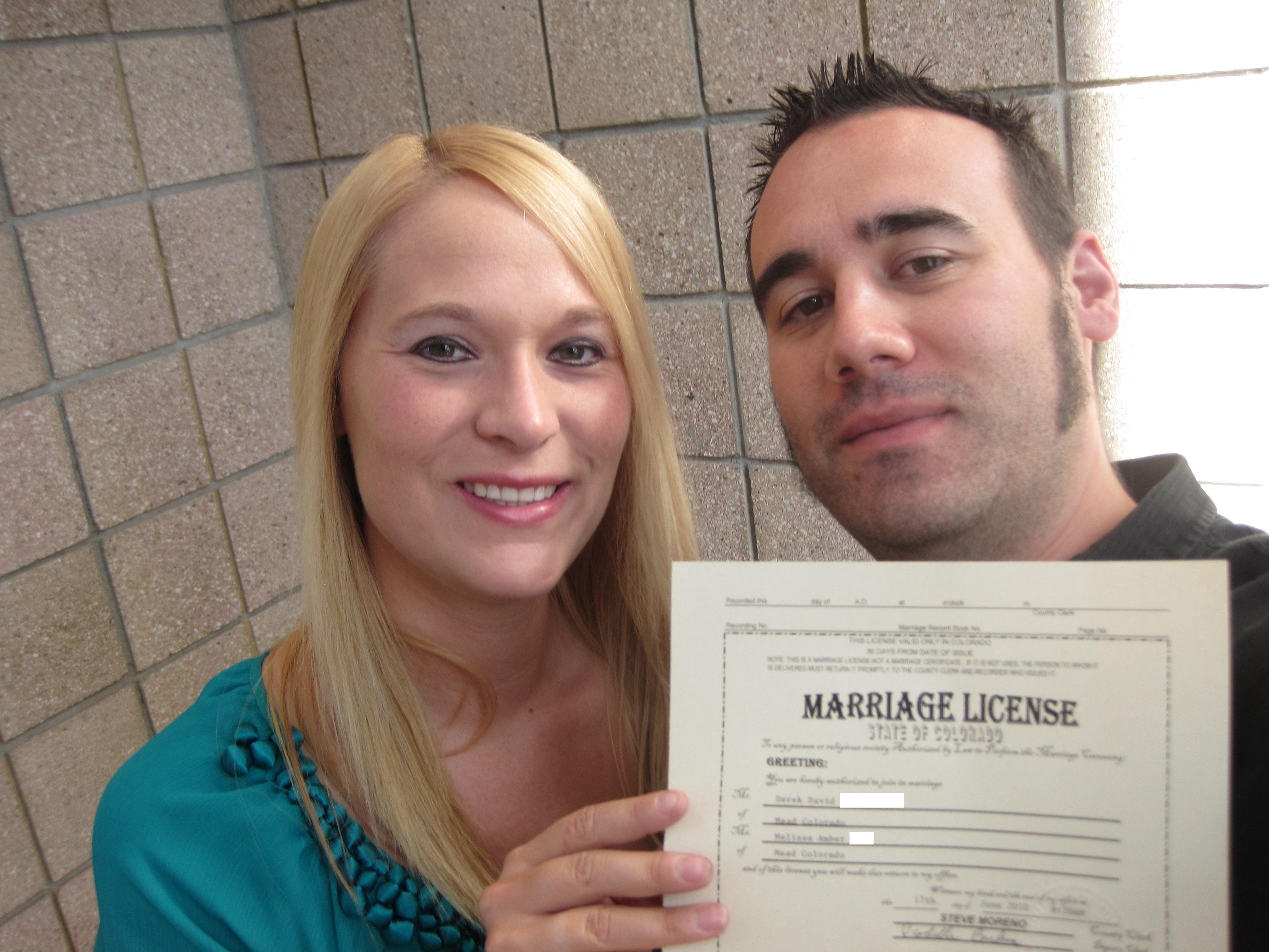 License, Marriage