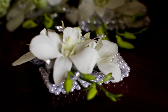 white, green, Pearls, Orchids, Corsage, Crystals, Wrist, Dendrobium