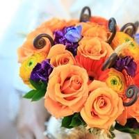 Flowers & Decor, orange, purple, blue, Bride Bouquets, Flowers, Bouquet