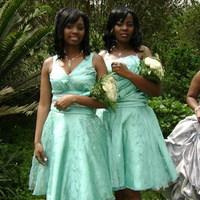 Bridesmaids, Bridesmaids Dresses, Fashion, green, silver, Brides, Maids