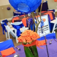 Reception, Flowers & Decor, Stationery, orange, purple, blue, Table Numbers, Table Names, Table signs