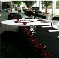 Reception, Flowers & Decor, white, red, black