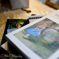 Reception, Flowers & Decor, red, blue, green, brown, Centerpieces, Centerpiece, In, Inspiration board, Books, Wonderland, Alice