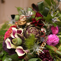 Ceremony, Reception, Flowers & Decor, white, orange, pink, red, purple, blue, green, brown, black, gold, Ceremony Flowers, Flowers, Inspiration board, Leaves, Woods