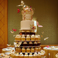 Reception, Flowers & Decor, Cakes, white, yellow, orange, pink, purple, cake, Inspiration board