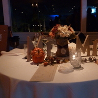Reception, Flowers & Decor, orange, Fall, Sweetheart table
