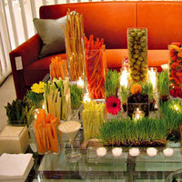 Reception, Flowers & Decor, white, yellow, orange, red, purple, green