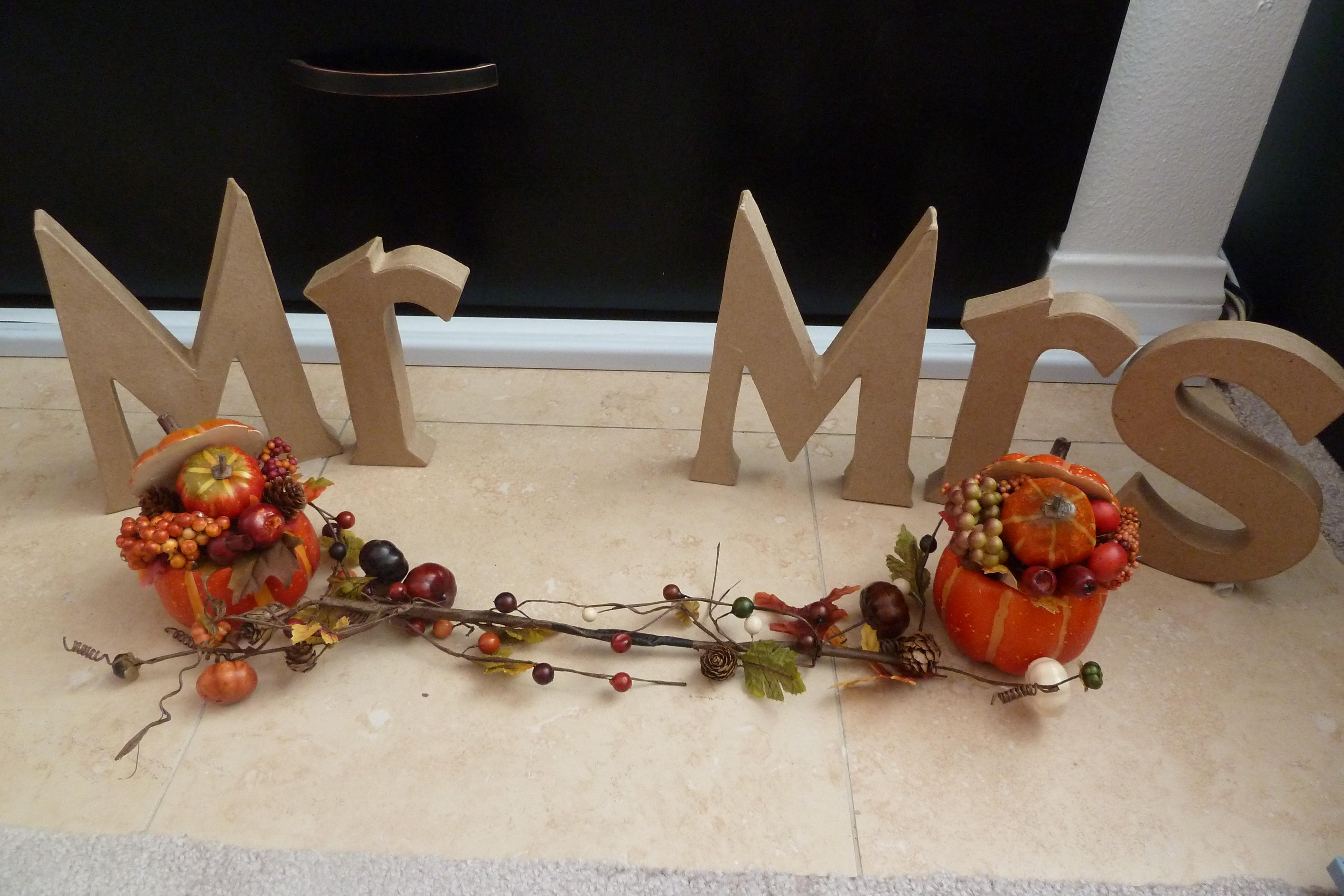 Reception, Flowers & Decor, orange, Fall, Sweetheart table