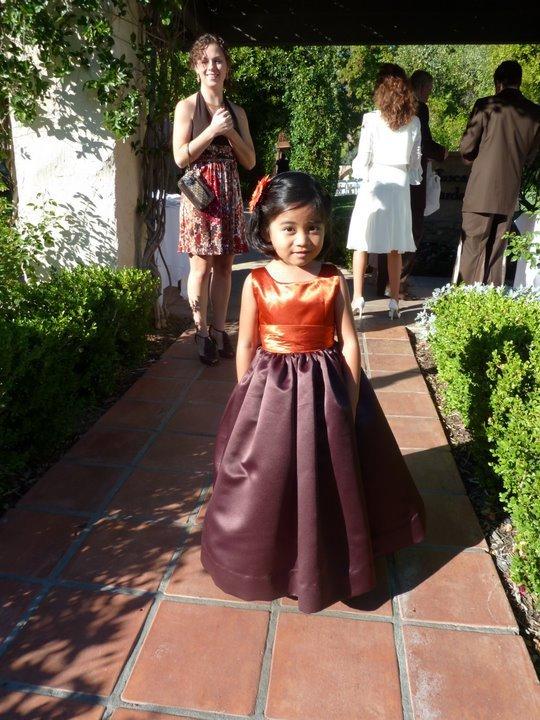 Ceremony, Flowers & Decor, orange, purple, Fall, Flower girl, Aubergine