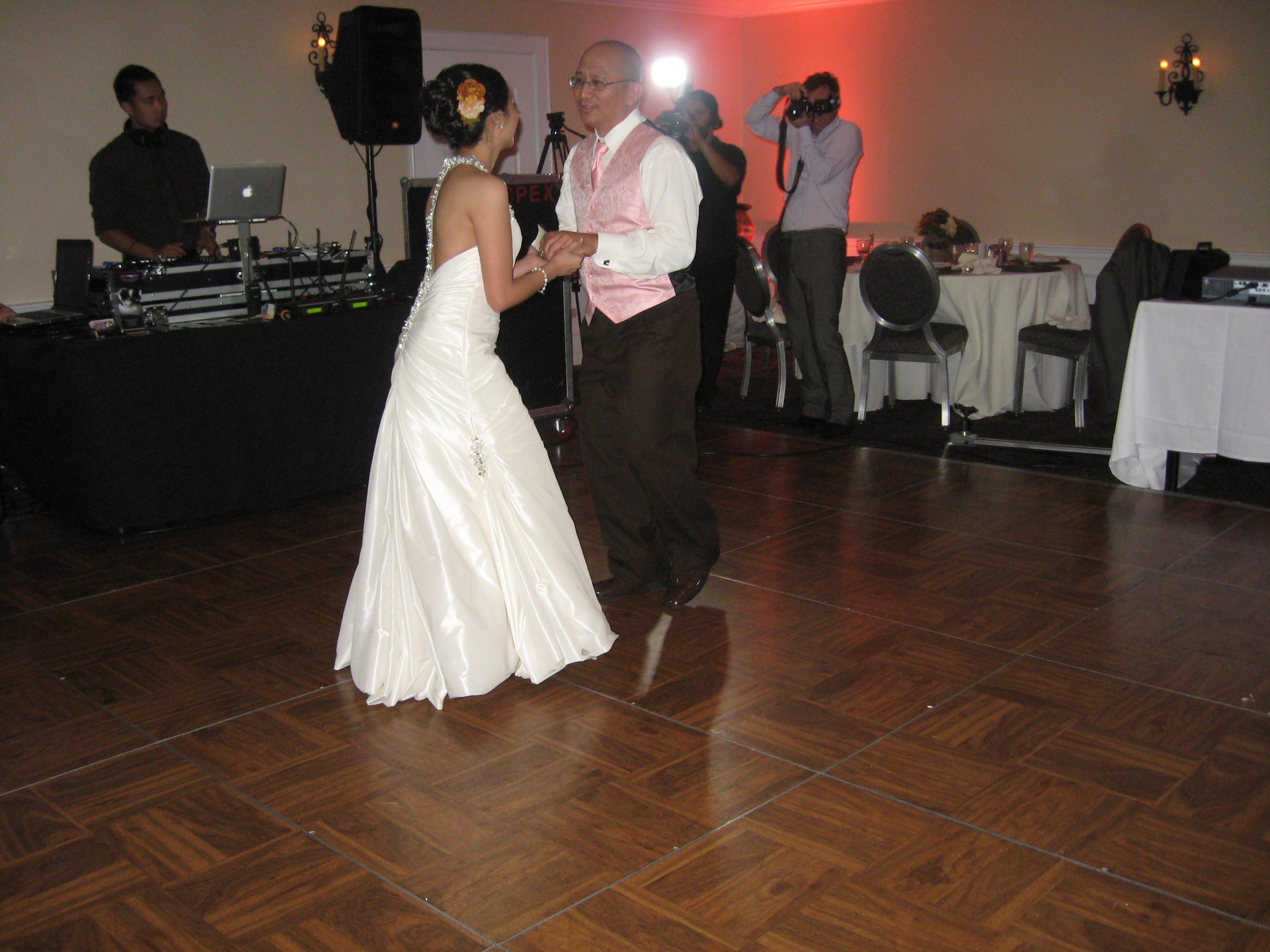 Reception, Flowers & Decor, Bustle, Billie, Sottero and midgley, Billie by sottero and midgley, Father and daughter dance