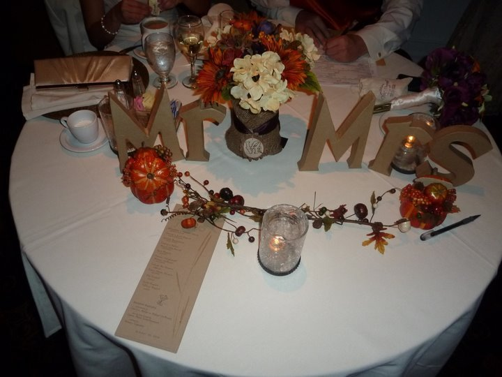 Reception, Flowers & Decor, Fall, Mr mrs