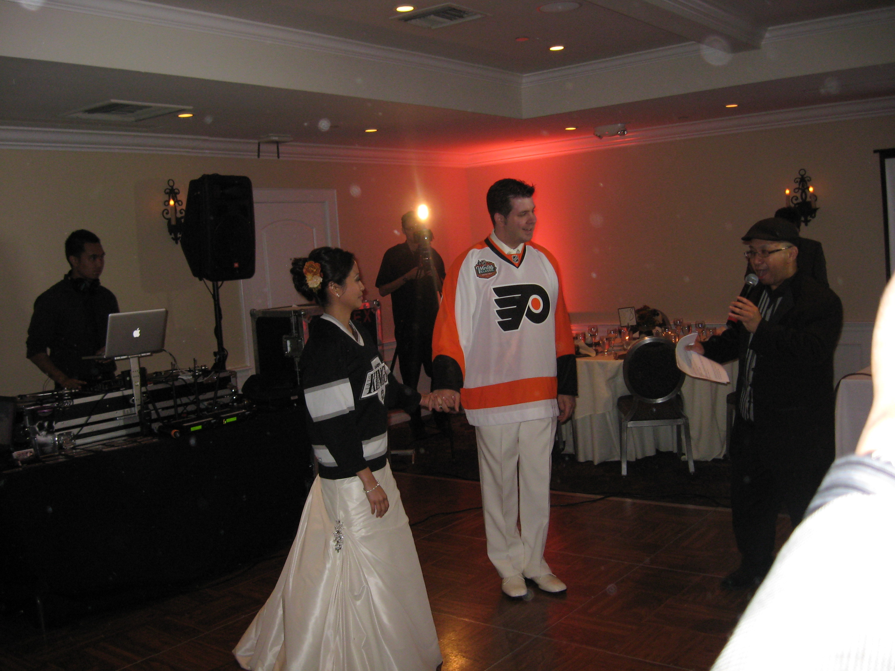Reception, Flowers & Decor, Entrance, Hockey jersey