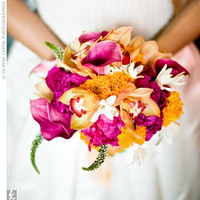 Ceremony, Flowers & Decor, yellow, orange, pink, purple, Ceremony Flowers, Flowers, Inspiration board