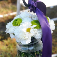 Flowers & Decor, purple, green, Aisle Decor, Flowers, Aisle, Jar, Hooks, Shepherds, Mason