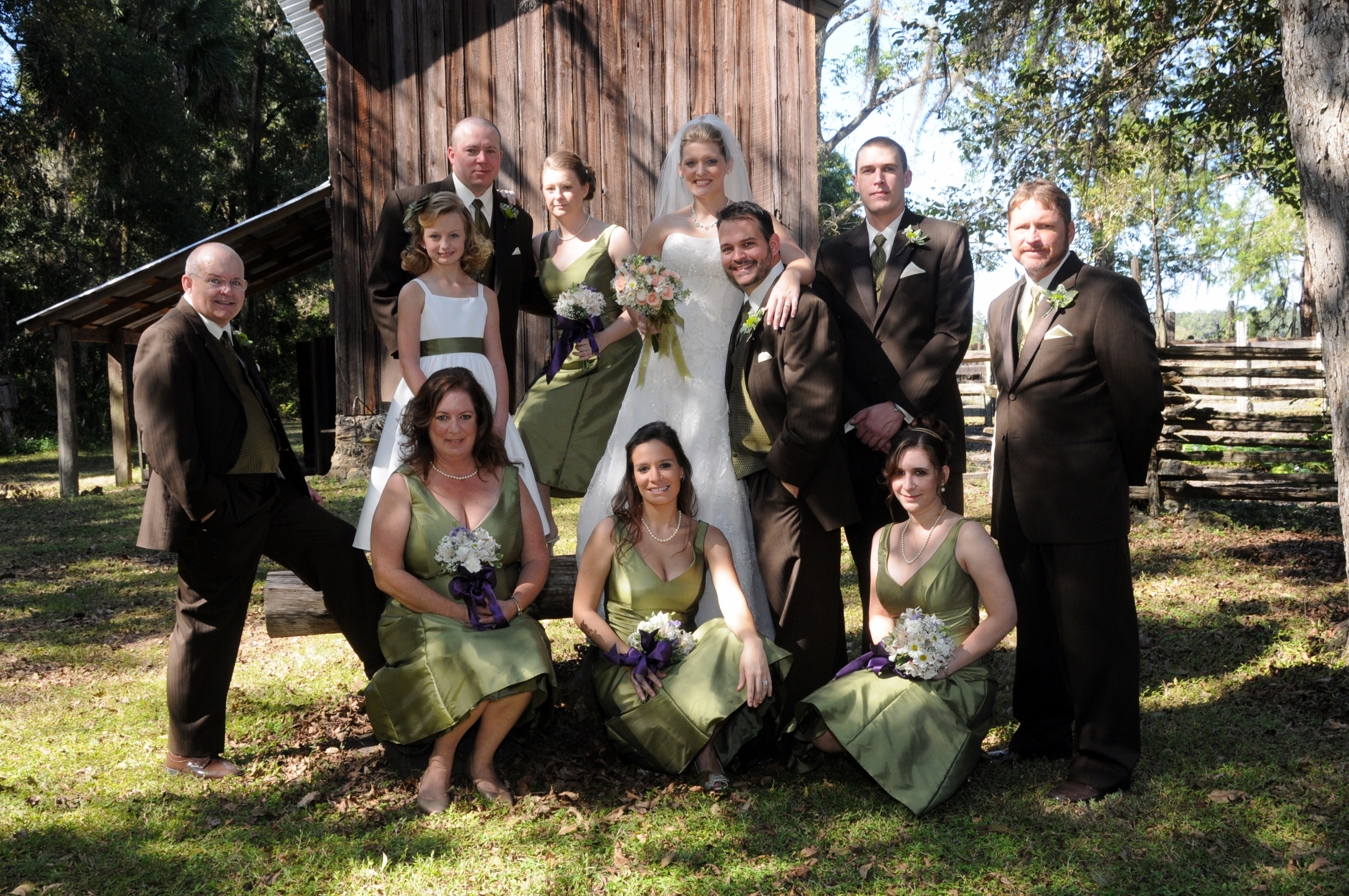 Bridesmaids, Bridesmaids Dresses, Vintage Wedding Dresses, Fashion, green, brown, Vintage, Rustic, Groomsmen, Wedding, Party, Farm, Antique, rustic wedding dresses