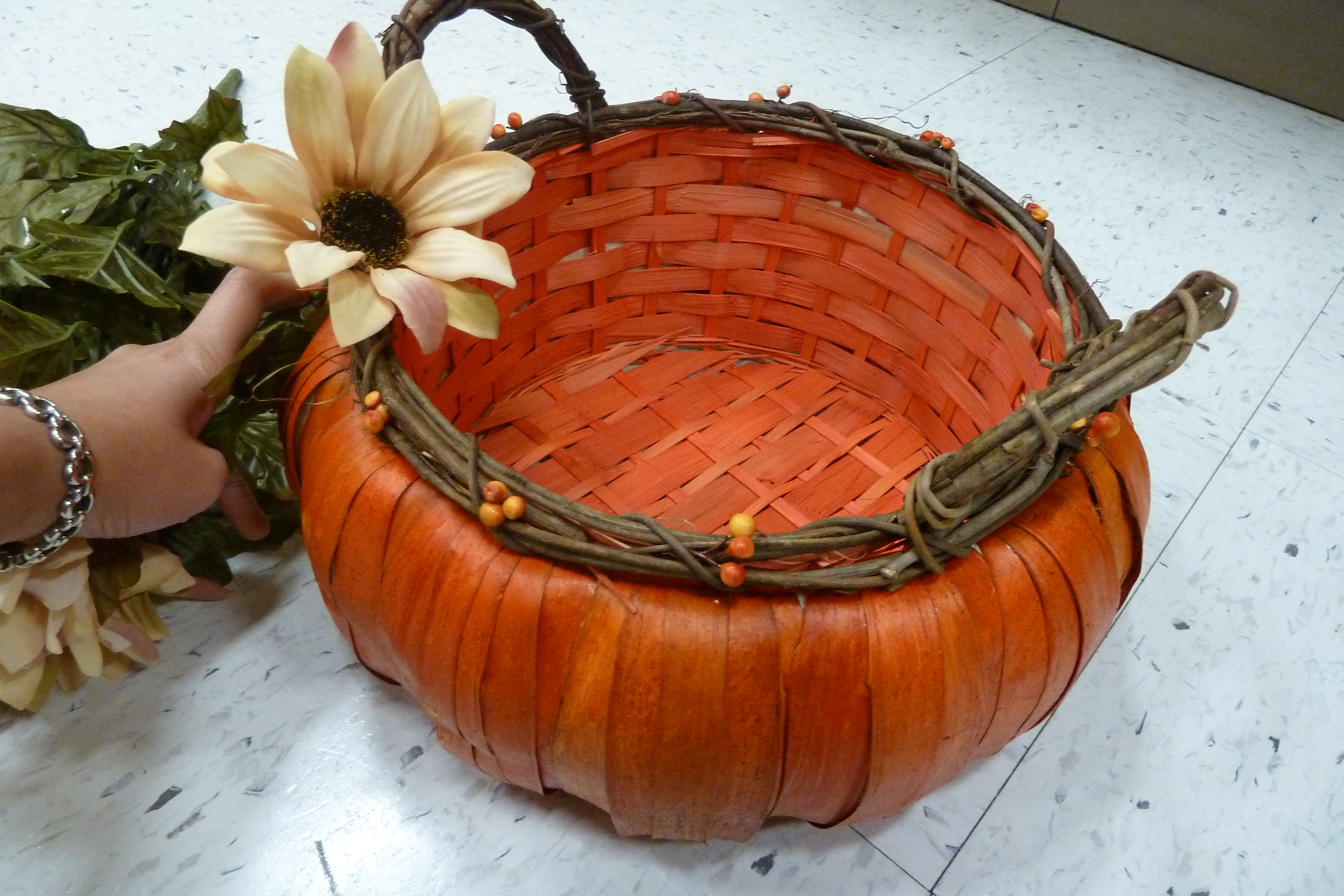 Fall, Rustic, Card box, Pumpkin card box