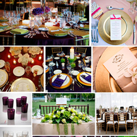 Reception, Flowers & Decor, purple, gold, Inspiration board
