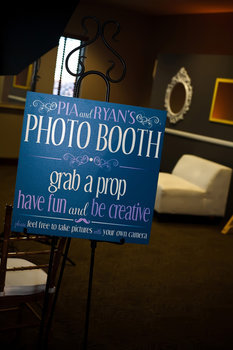 Reception, Flowers & Decor, blue, green, black, Photobooth, Inspiration board, Sign, Point