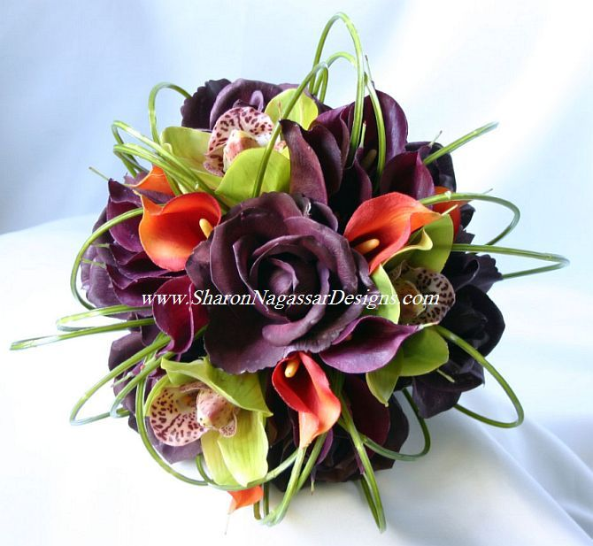 Flowers & Decor, orange, purple, Bride Bouquets, Flowers, Bouquet