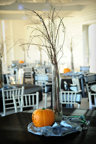 Reception, Flowers & Decor, white, orange, black, Flowers, Inspiration board, Pumkin