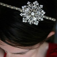 Beauty, Headbands, Hair, Pearl, Headband, Snowflake