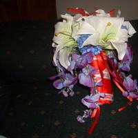 Ceremony, Flowers & Decor, white, red, blue, Ceremony Flowers, Bride Bouquets, Flowers, Bouquet