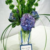 Flowers & Decor, blue, green, Flowers