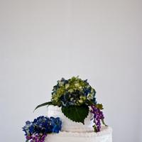 Flowers & Decor, Cakes, blue, green, cake, Flowers