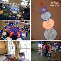 Reception, Flowers & Decor, orange, purple, blue