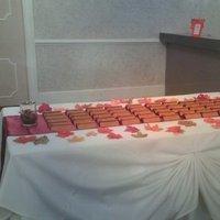 Reception, orange, brown, Flowers & Decor