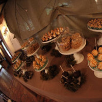 Reception, Flowers & Decor, Cakes, green, brown, cake, Cupcakes, Cookies, Table, Inspiration board, Moss, Sweets