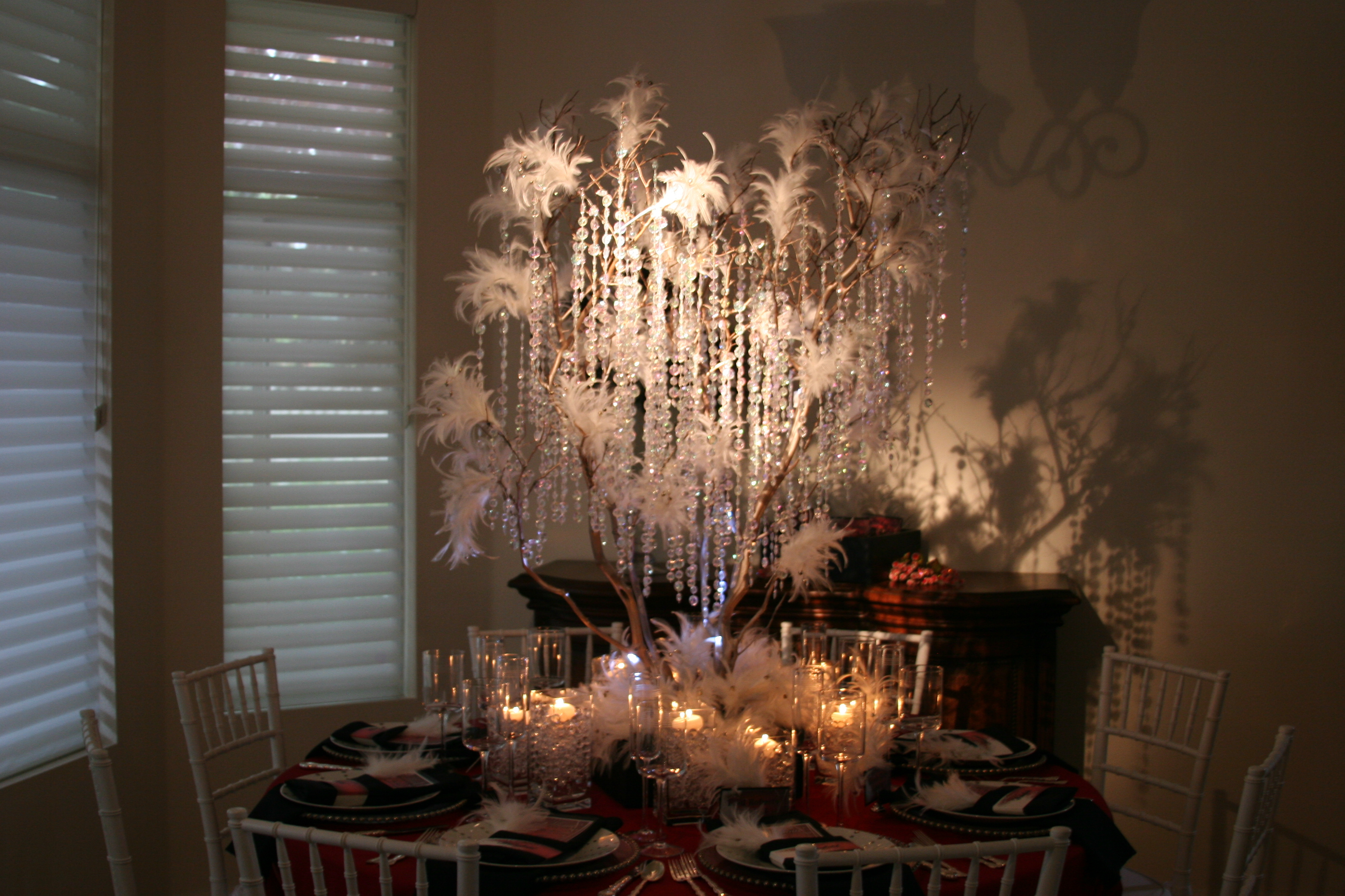 Ceremony, Reception, Flowers & Decor, Stationery, white, red, black, Candles, Invitations, Branches, Tree, Inspiration board, Manzanita, Wishing, Bling, Crystals