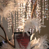 Beauty, Reception, Flowers & Decor, white, red, Feathers, Flowers, Tree, Inspiration board, Lights, Wishing, Invatations