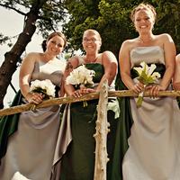 Ceremony, Flowers & Decor, Bridesmaids, Bridesmaids Dresses, Fashion, white, green, silver, Ceremony Flowers, Bridesmaid Bouquets, Flowers, Flower Wedding Dresses