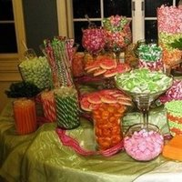 Reception, Flowers & Decor, orange, pink, green