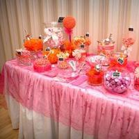 Reception, Flowers & Decor, orange, pink