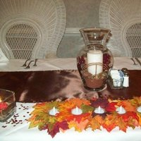 Reception, Flowers & Decor, Favors & Gifts, white, orange, red, brown, gold, Favors