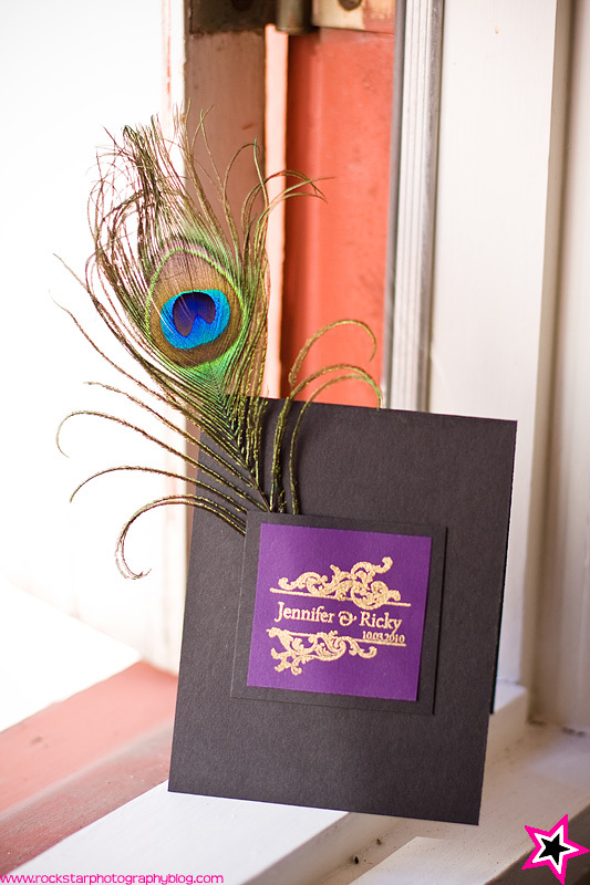 Ceremony, Flowers & Decor, purple, Program, Peacock