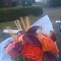 Flowers & Decor, yellow, orange, purple, brown, Bride Bouquets, Flowers, Bouquet, Wheat