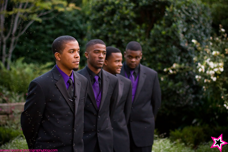 Flowers & Decor, purple, black, Garden, Groomsmen, Groom, Dallas, Arboretum, Sunken