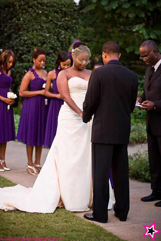 Ceremony, Flowers & Decor, purple, Garden, Outdoor, Wedding, Dallas, Arboretum