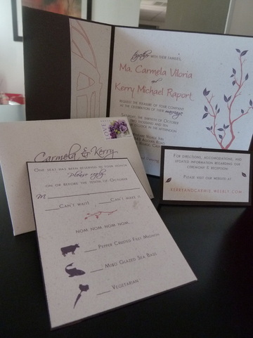 Pocketfold, Insert, Rsvp card, Webcard, Website card