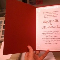 Stationery, white, red, gold, Invitations