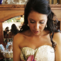 Beauty, Flowers & Decor, Wedding Dresses, Fashion, pink, purple, green, dress, Flowers, Hair, Flower Wedding Dresses